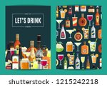card  flyer or brochure... | Shutterstock . vector #1215242218