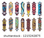 various colored patterns on... | Shutterstock . vector #1215242875
