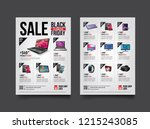 2 sides flyer template for... | Shutterstock .eps vector #1215243085
