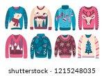 bundle of ugly christmas... | Shutterstock .eps vector #1215248035