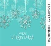 watercolor christmas snowflakes ... | Shutterstock . vector #1215254095