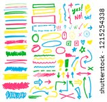highlighter markers vector... | Shutterstock .eps vector #1215254338