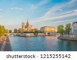 the beautiful notre dame de... | Shutterstock . vector #1215255142