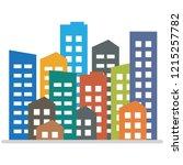 cityscape. city modern... | Shutterstock .eps vector #1215257782