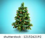 christmas tree with colorful... | Shutterstock . vector #1215262192