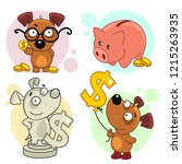 set of cartoon icons for kids... | Shutterstock .eps vector #1215263935
