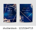 starry night sky trendy wedding ... | Shutterstock .eps vector #1215264715