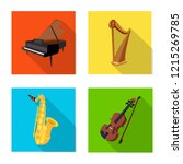 vector design of music and tune ... | Shutterstock .eps vector #1215269785