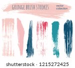 paint lines grunge collection....   Shutterstock .eps vector #1215272425