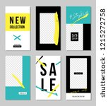 a set of six editable vertical... | Shutterstock .eps vector #1215272758