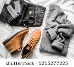 set of women's autumn  winter... | Shutterstock . vector #1215277225