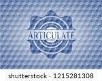 articulate blue emblem or badge ...