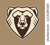bear mascot vector art. frontal ...   Shutterstock .eps vector #1215284365