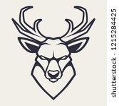 deer mascot vector art. frontal ...   Shutterstock .eps vector #1215284425