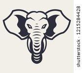 elephant mascot vector art....   Shutterstock .eps vector #1215284428