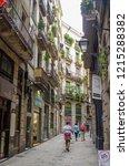 barcelona  spain   september 1  ... | Shutterstock . vector #1215288382