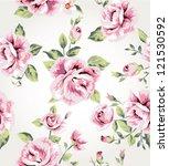 seamless vintage flower pattern ... | Shutterstock .eps vector #121530592