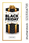 black friday sale banner and... | Shutterstock .eps vector #1215316735