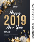 happy new year background... | Shutterstock .eps vector #1215316792