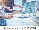 architect engineer design... | Shutterstock . vector #1215317248