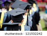back of graduates during... | Shutterstock . vector #121532242