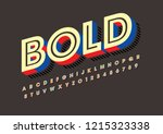 vector of stylized modern font... | Shutterstock .eps vector #1215323338