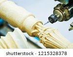 woodwork with cnc machine.... | Shutterstock . vector #1215328378