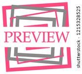 preview text written over pink... | Shutterstock . vector #1215328525
