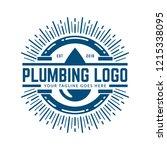 plumbing logo template with... | Shutterstock .eps vector #1215338095