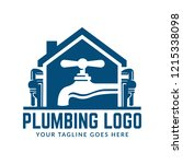 plumbing logo template with... | Shutterstock .eps vector #1215338098