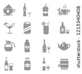 drinks and beverages icons.... | Shutterstock .eps vector #1215340408