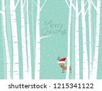christmas deer illustration... | Shutterstock .eps vector #1215341122