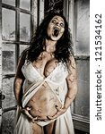 Horror Scene Of A Pregnant...
