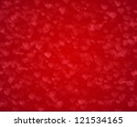 red valentine's day background | Shutterstock . vector #121534165