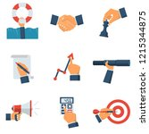 business collection icon....   Shutterstock .eps vector #1215344875