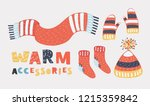 collection of winter warm... | Shutterstock .eps vector #1215359842