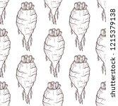sugar beet. root. sketch.... | Shutterstock .eps vector #1215379138
