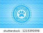 paw icon inside sky blue water... | Shutterstock .eps vector #1215390598