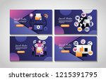 social media digital | Shutterstock .eps vector #1215391795