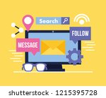 social media digital | Shutterstock .eps vector #1215395728