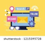 social media digital | Shutterstock .eps vector #1215395728