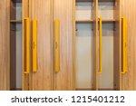 full frame view of wooden... | Shutterstock . vector #1215401212