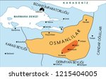 ottomans in the period of osman ... | Shutterstock .eps vector #1215404005