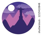 rio de janeiro christ statue... | Shutterstock .eps vector #1215410848