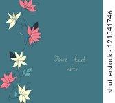 cute flowers card | Shutterstock .eps vector #121541746