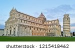 a view of pisa cathedral  pisa ... | Shutterstock . vector #1215418462