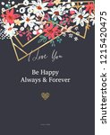 beautiful banner with flowers... | Shutterstock .eps vector #1215420475