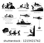 rescue operations pictograms.... | Shutterstock .eps vector #1215421762
