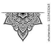 mehndi mandala pattern for...   Shutterstock .eps vector #1215423265