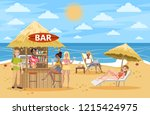 people drink cocktail at the...   Shutterstock .eps vector #1215424975
